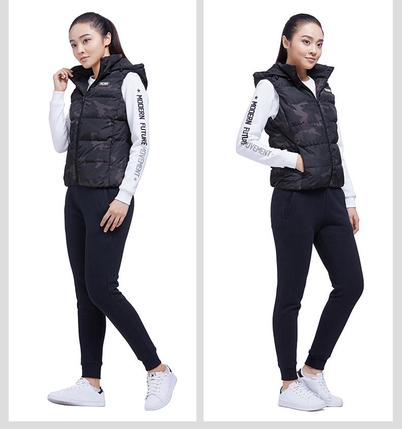 特步 专柜款 女子冬季羽绒马甲 新品保暖轻便舒适马甲983428260036-