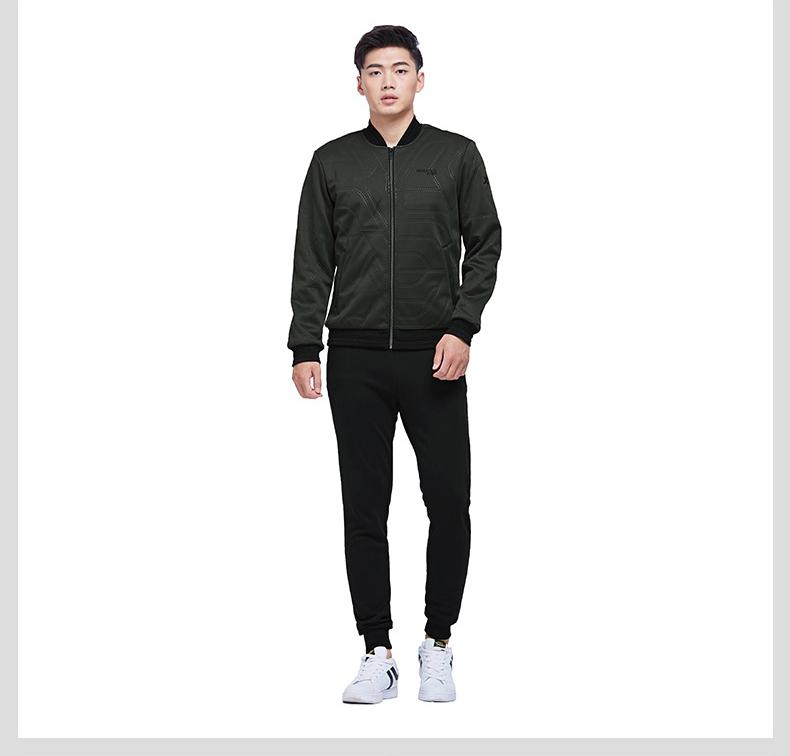 【明星同款】特步 专柜款 男子冬季薄棉服 新品纯色百搭林更新同款外套983429170351-