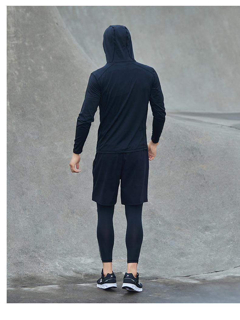 特步 男子运动套装 2018春季轻便运动健身训练装882129989302-