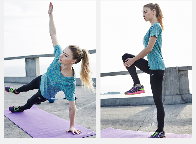 特步 女子短袖T恤 2017夏季新款透气吸湿快干圆领时尚运动休闲短袖883128019097-
