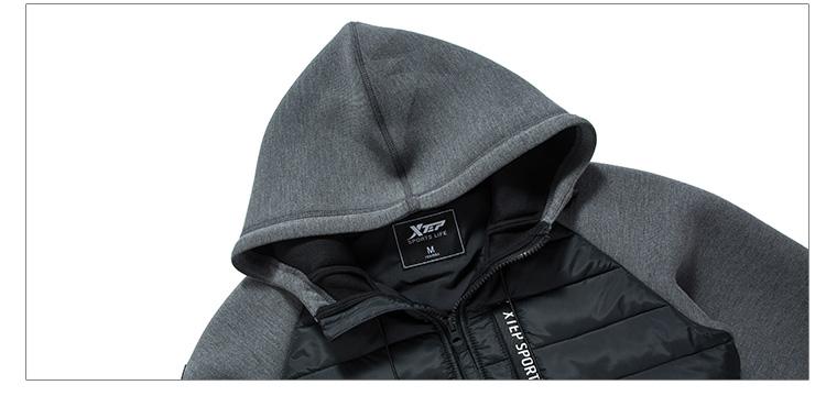 特步 女子棉服2017冬季新款 校园系列轻便时尚运动跑步连帽外套883428449004-