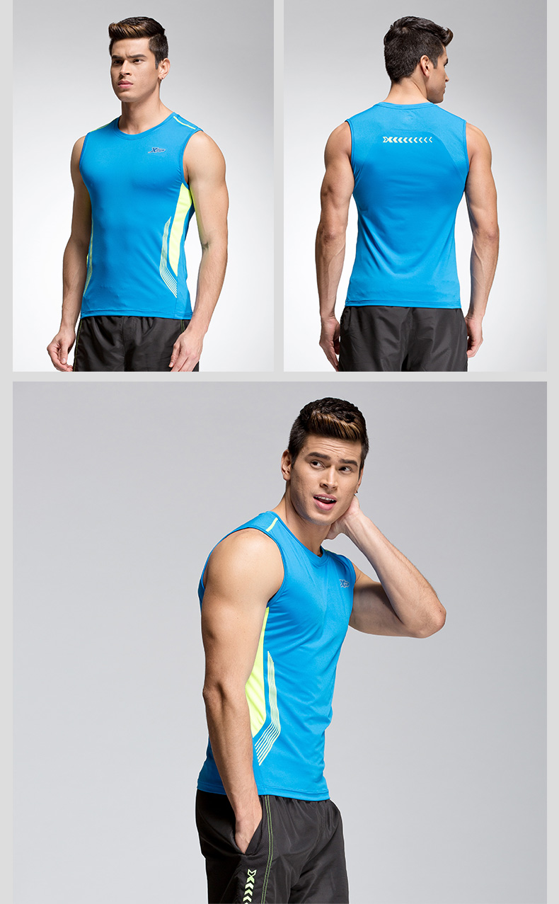 【特步官方商城】男运动背心2016夏季新款无袖透气吸湿排汗男运动T恤884229099202-