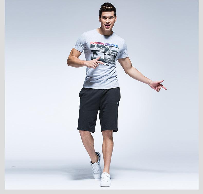 【特步官方商城】时尚休闲男款运动裤透气吸汗舒适运动短裤男款运动裤884229609176-