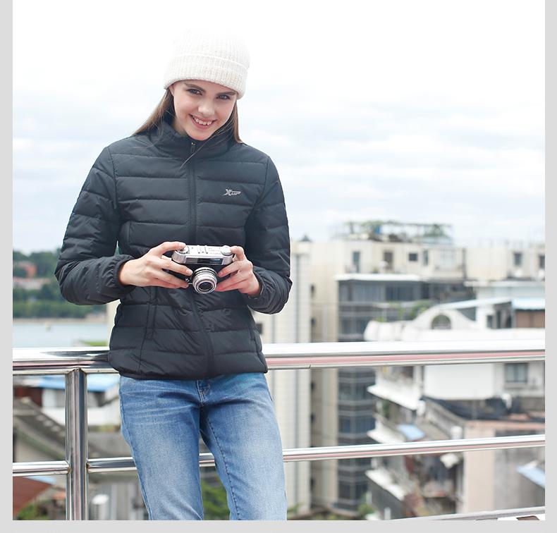 特步 2016冬季羽绒服 保暖时尚百搭轻便女子羽绒服884428199146-