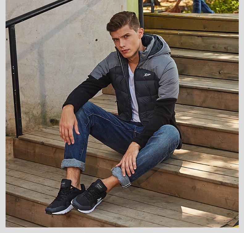 特步 2016冬季新款羽绒服 柔软舒适保暖男子羽绒服外套884429199339-