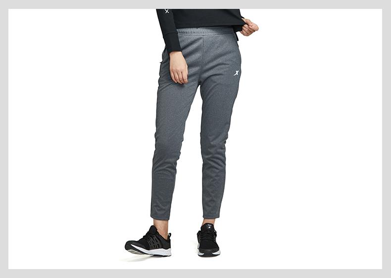 特步 专柜款 女子春季针织长裤 跑步运动裤982128631338-
