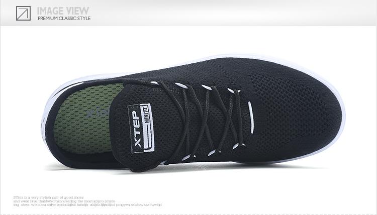 特步 专柜款 女子夏季板鞋 网面一脚蹬女鞋982218315962-