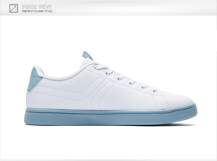 特步 专柜款 女子夏日板鞋 繁复时髦小白鞋982219315838-