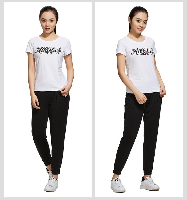 特步 专柜款 女子夏季短袖T恤 活力印花百搭女装982228012148-