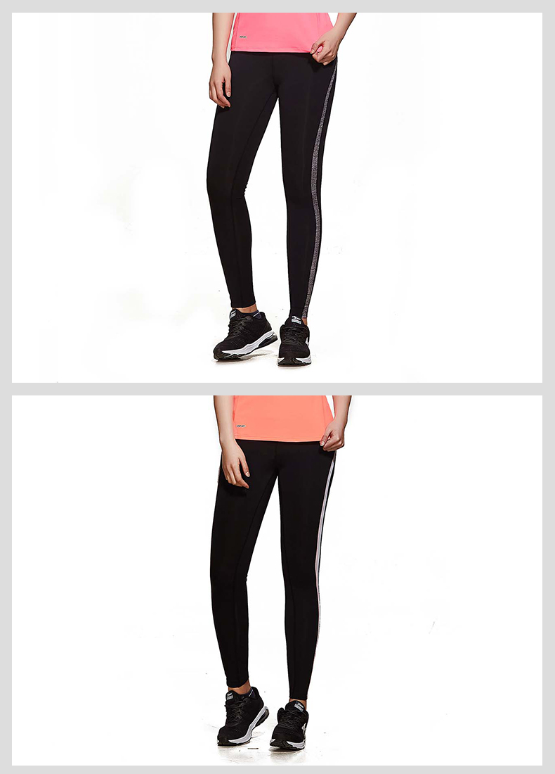 特步 专柜款 女子夏季运动健身专业紧身裤982228580083-