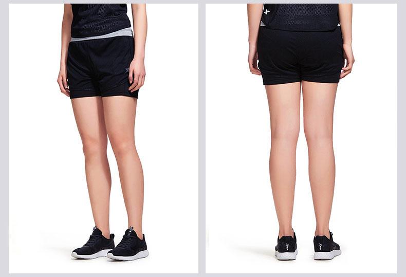 特步 专柜款 女子梭织短裤2018夏季新款时尚潮流运动跑步健身短裤下装982228600105-