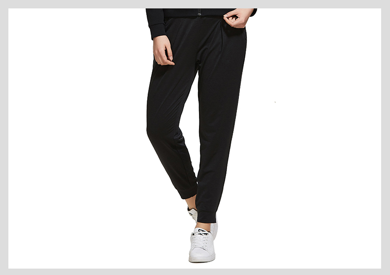 特步 专柜款 女子夏季九分裤 针织宽松束脚女裤982228840026-