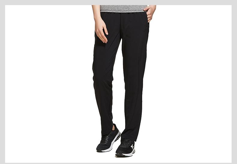 特步 专柜款 梭织运动长裤 综训健身运动女裤982228980166-