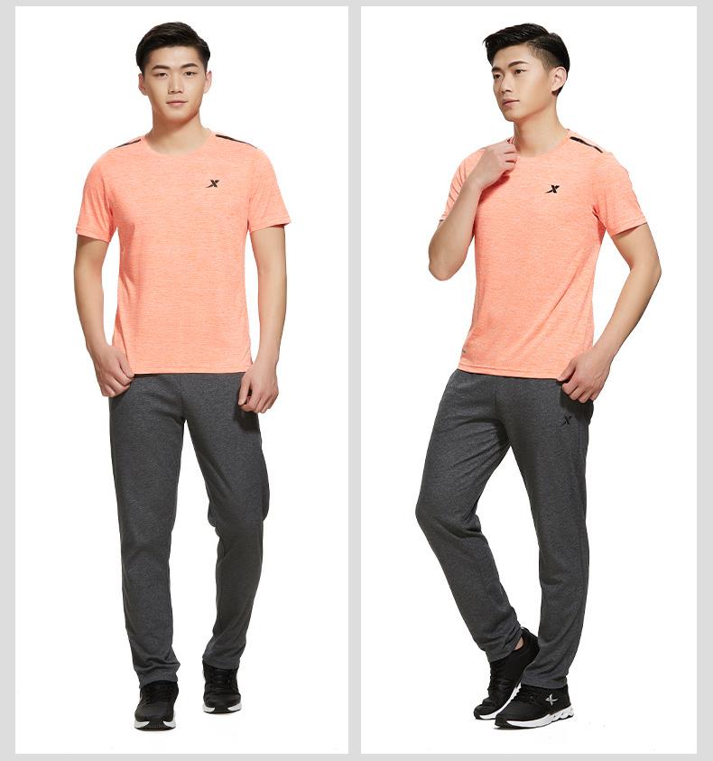 特步 专柜款 男子夏季T恤 健身综训透气男装982229012088-