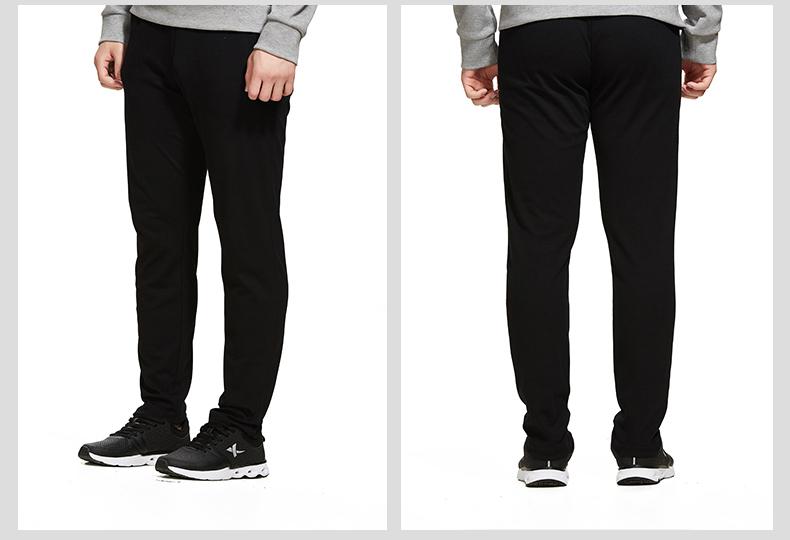 特步 专柜款 男子针织长裤  综训时尚健身裤子982229631416-