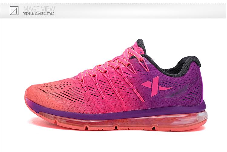特步专柜同款 女跑鞋2017春季新款 时尚百搭舒适女运动鞋983118116235-