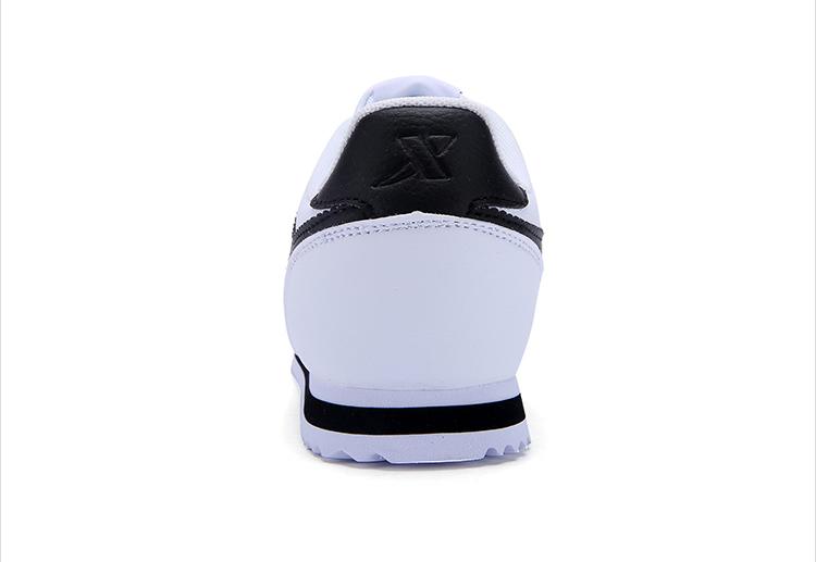 特步  女子春季阿甘鞋 时尚π系列板鞋小白鞋983118315589-