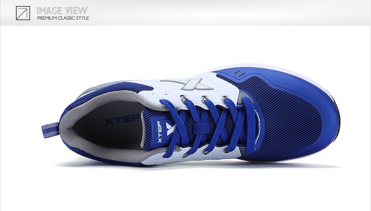特步 专柜同款 男子休闲鞋 17年气垫撞色时尚男子休闲鞋983119325918-
