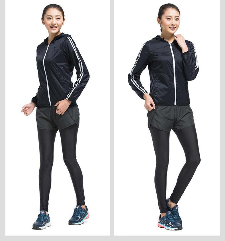 特步 专柜款 女双层风衣2017年春季新品 百搭户外时尚女外套983128150329-