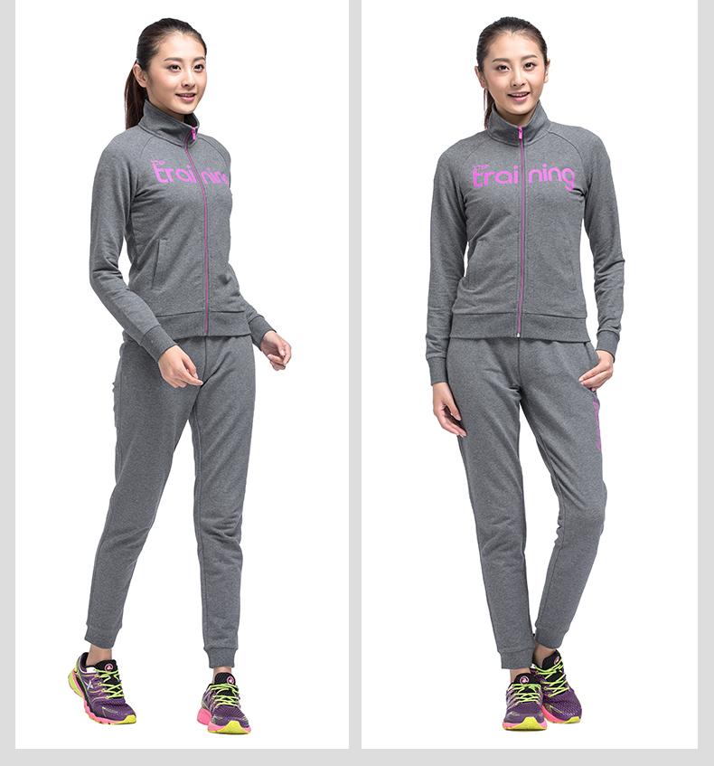 特步 专柜同款 17年女子针织长裤 收脚运动休闲针织长裤983128631028-