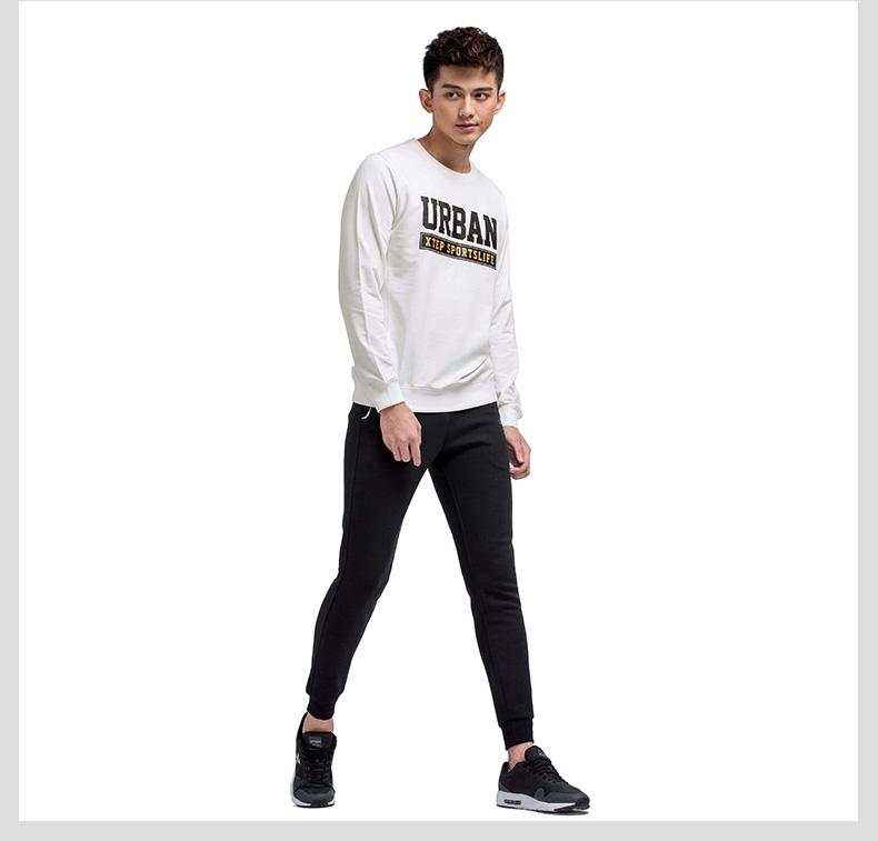 特步专柜同款 男卫衣2017春季新款 青春时尚字母男上衣983129051397-