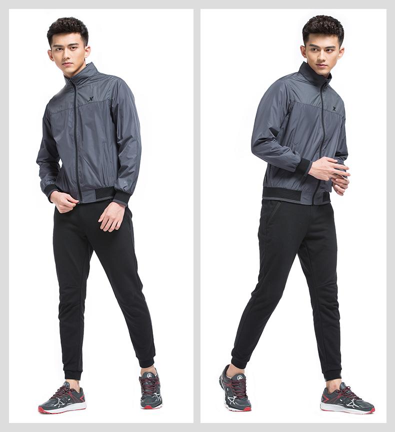 特步 专柜款 男子双层夹克2017春季新品 舒适运动防风男上衣983129120727-