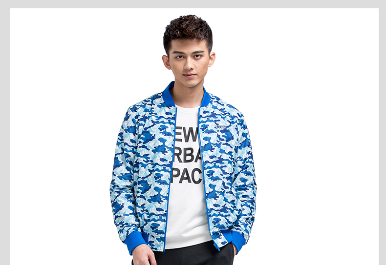 特步 男款双层夹克 2017年新品 时尚舒适运动男外套 983129120740-