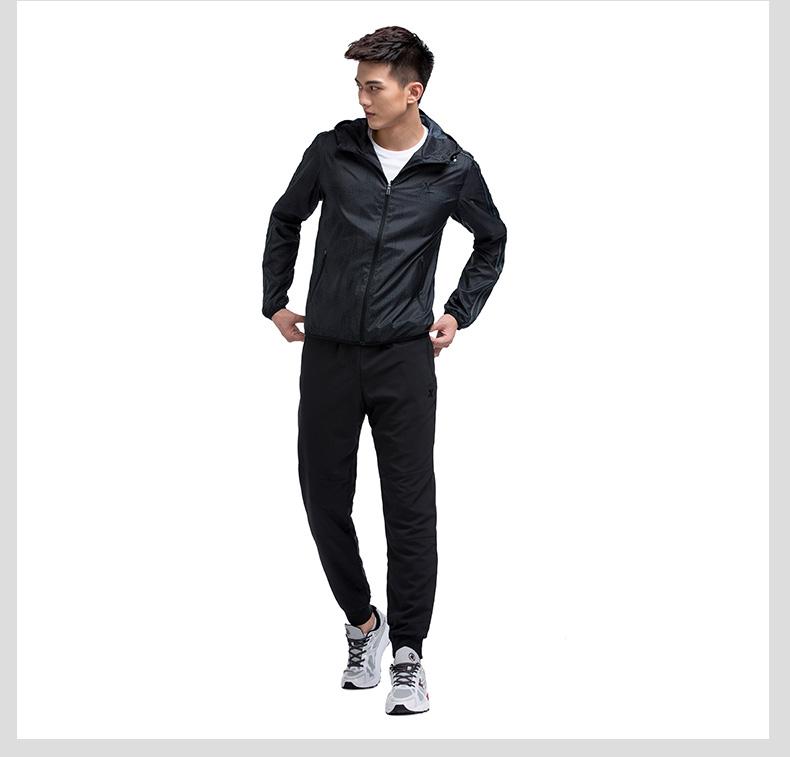 特步专柜同款 男双层风衣2017新款 运动百搭男外套983129150317-