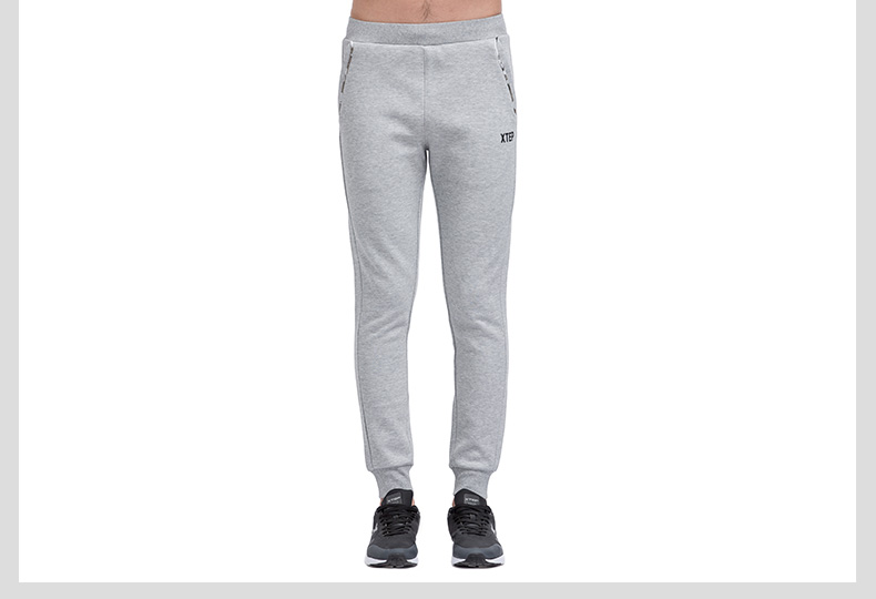 特步 专柜款 男子春季长裤 修身休闲收脚运动长裤983129631074-
