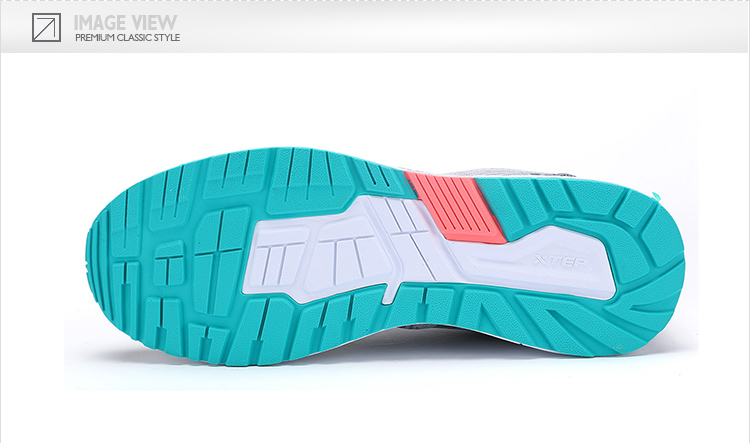 特步 专柜款 女子夏季休闲鞋 17年新款网面透气轻便 百搭女子运动鞋983218326132-
