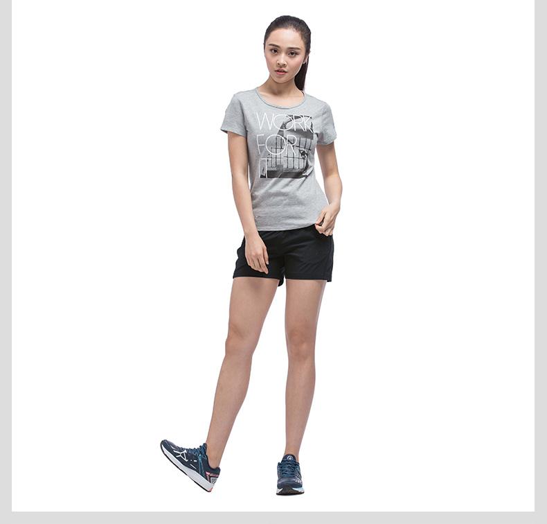 特步 专柜款 女子夏季短裤 17新品983228240033-