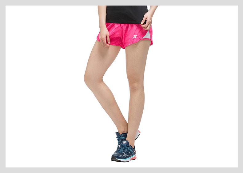特步 女子跑步短裤 2017夏季新品运动裤 轻便户外运动短裤983228240047-