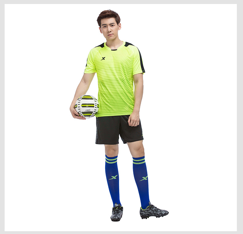 特步 专柜款 男子夏季足球套装 983229670015-