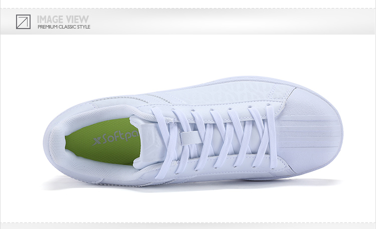 特步 专柜款 女子秋季板鞋 17新品π系列简约贝壳头小白鞋983318315665-