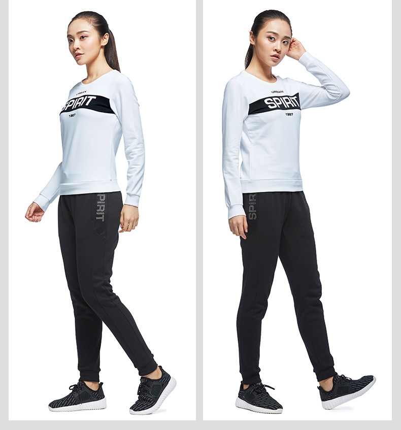 特步 专柜款 女子秋季卫衣 都市潮流休闲 女装卫衣983328051476-