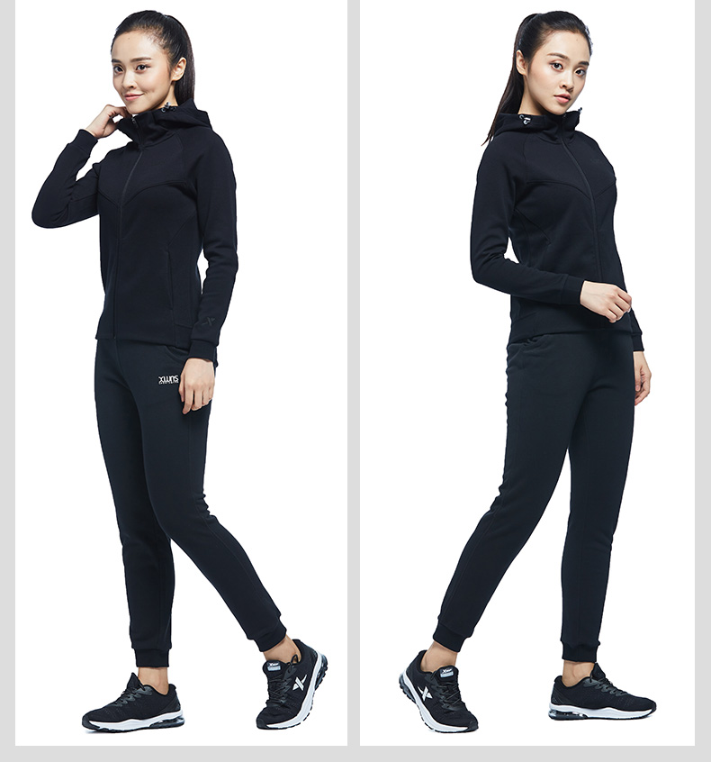 特步 专柜款 女子秋季针织上衣 17新品综训健身外套983328061327-