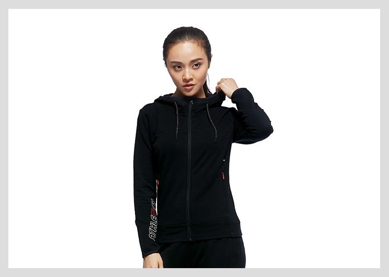 特步 专柜款 女子秋季针织外套 新品连帽休闲运动舒适外套983328061399-