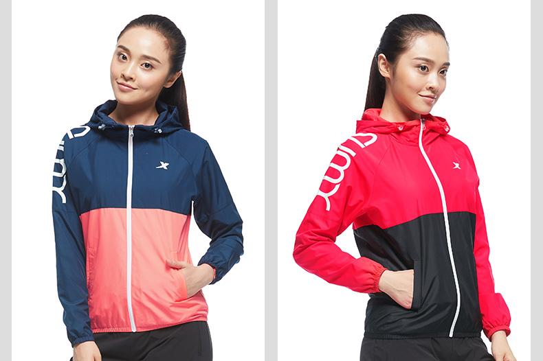 特步 专柜款 女子秋季风衣外套 新品综训健身运动 外套983328150340-