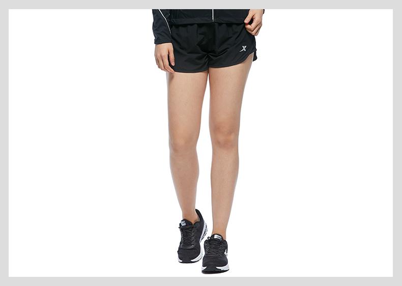 特步 专柜款 女子秋季短裤 新品跑步运动裤983328240071-