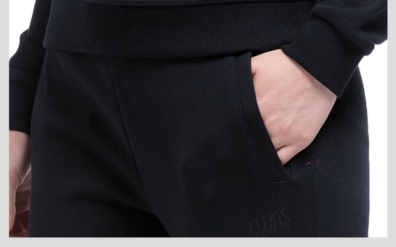 特步 专柜款 女子秋季针织长裤 新品综训健身运动长裤983328631122-