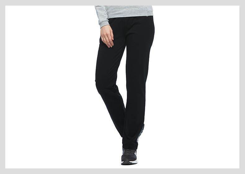 特步 专柜款 女子秋季针织长裤 新品综训健身 舒适运动长裤983328631128-