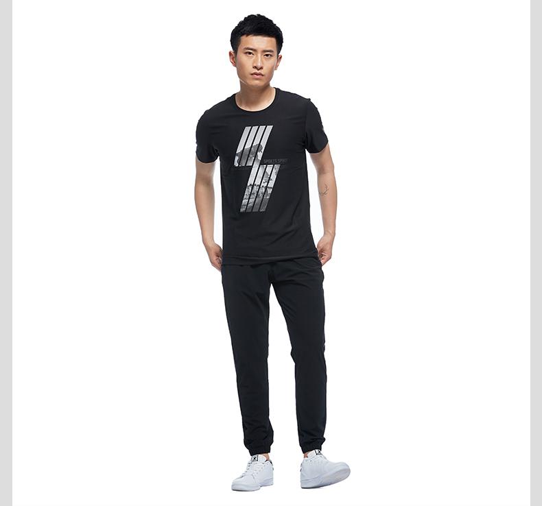 特步 专柜款 17新品男子短袖针织衫 都市系列休闲时尚T恤983329011931-