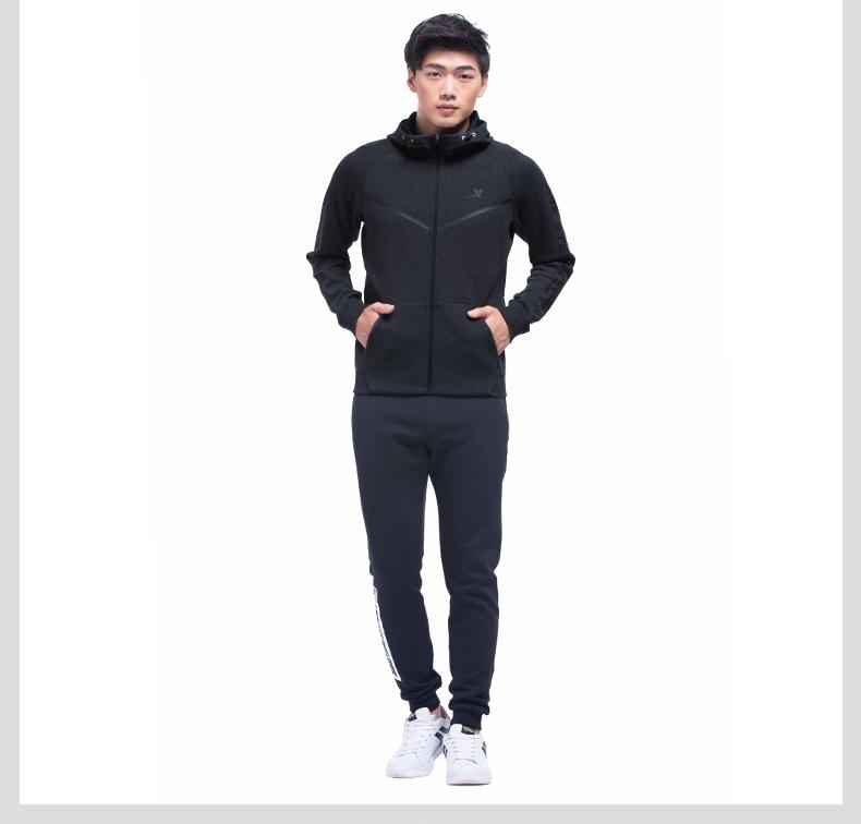 特步 专柜款 男子秋季针织上衣 新品跑步运动舒适外套983329061388-
