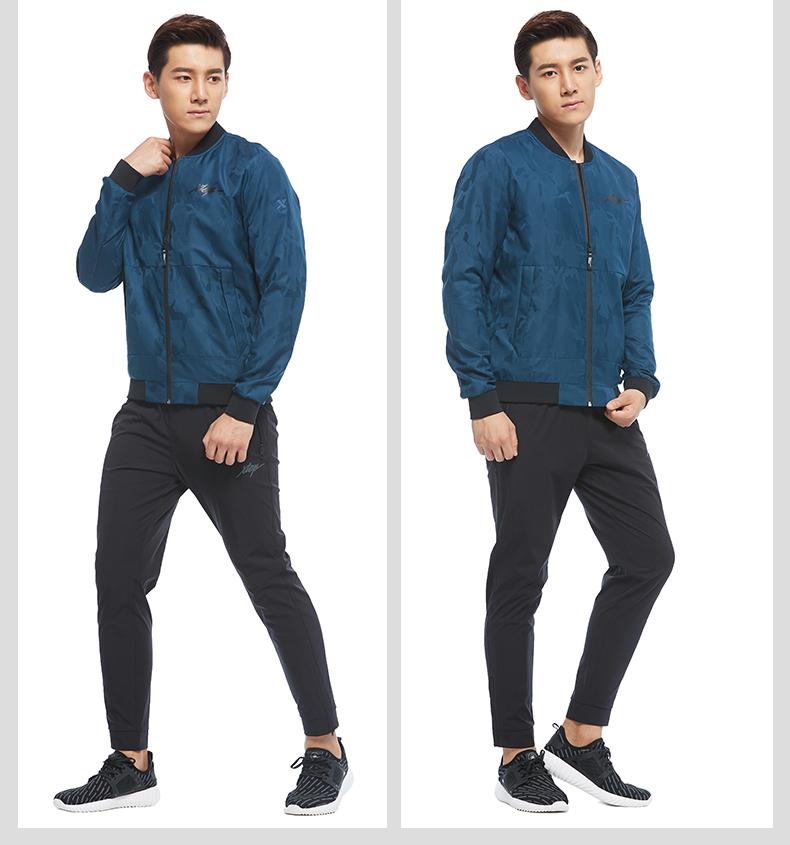 特步 男子双层夹克 专柜款舒适运动外套983329120767-