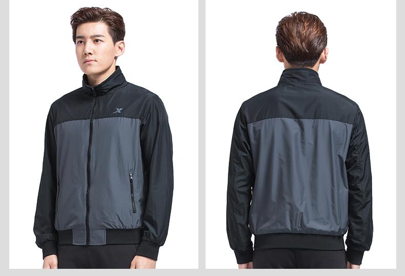 特步 专柜款 男子秋季保暖夹克 17新品简约保暖外套983329130296-