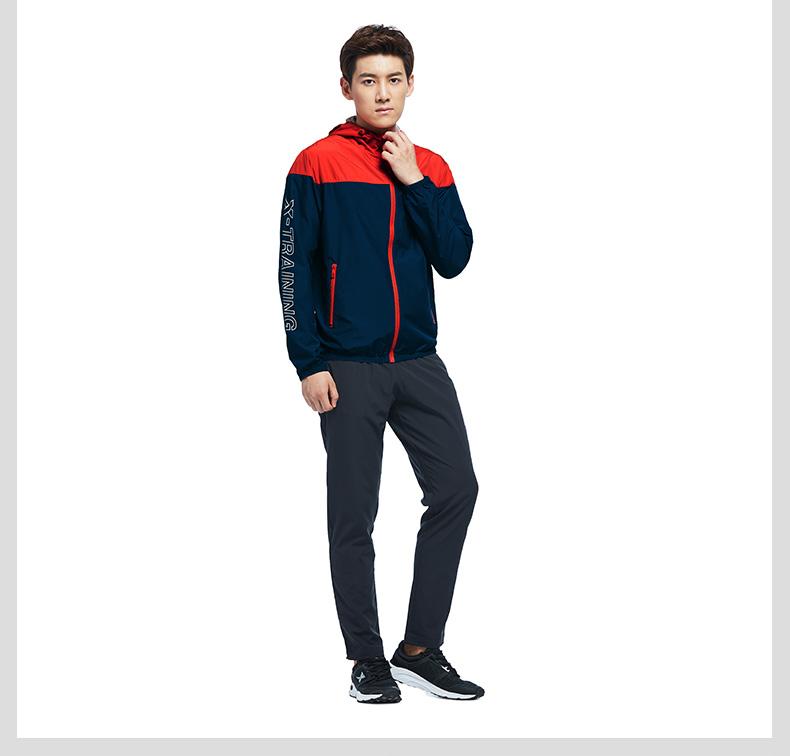 特步 男子单风衣 时尚舒适运动外套983329140165-