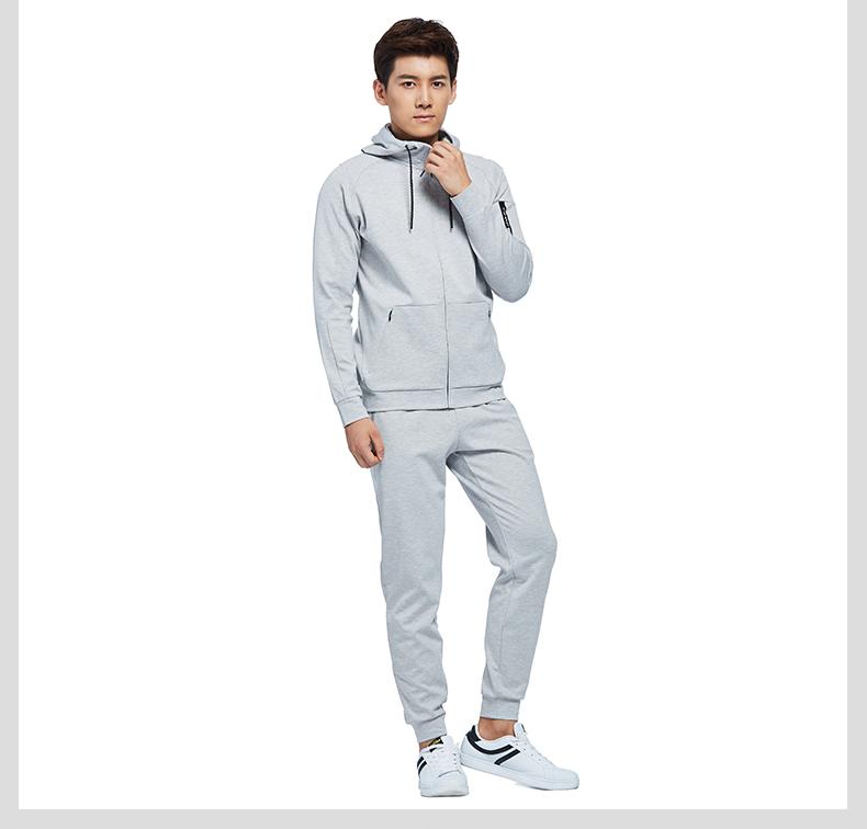特步 专柜款 男子秋季长裤 17新品运动文化系列休闲舒适针织长裤983329631189-
