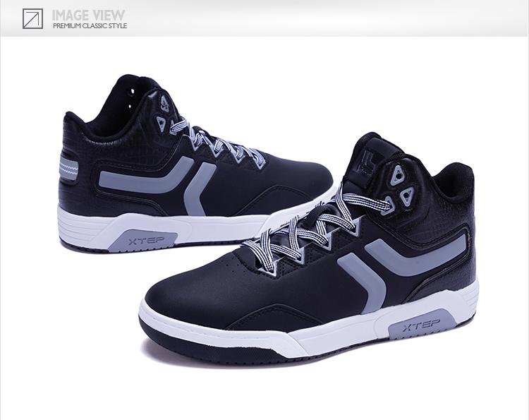 特步 专柜款 女子冬季板鞋 新品π系列高帮板鞋983418315688-