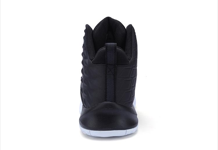 特步 男子篮球鞋2017秋冬新品 高帮包裹减震耐磨时尚潮流撞色系带运动鞋983419129075-