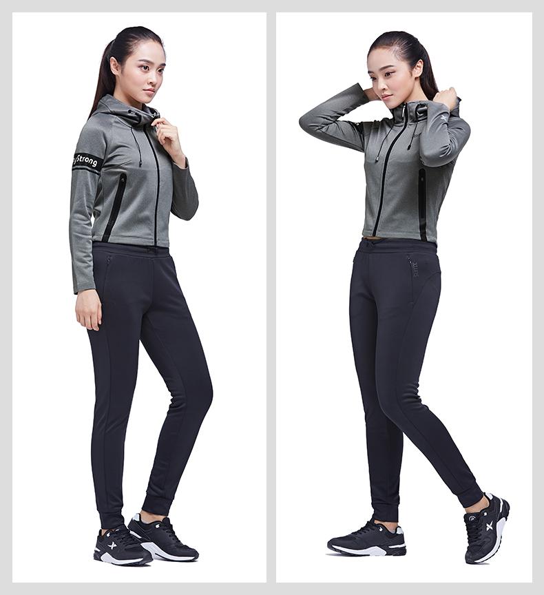 特步 专柜 女子针织上衣  综训舒适外套983428061436-
